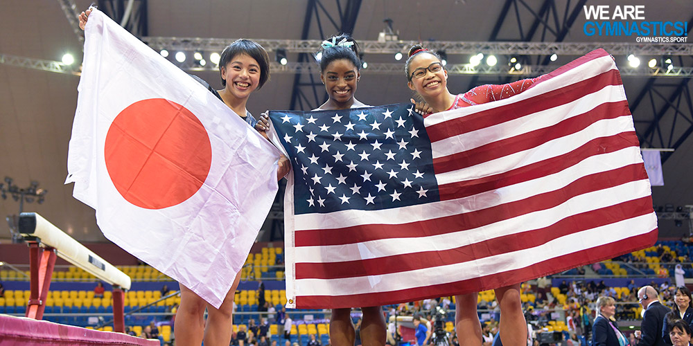 Simone Biles (USA) won a record fourth world All-around title over Mai Murakami (JPN) and Morgan Hurd (USA).