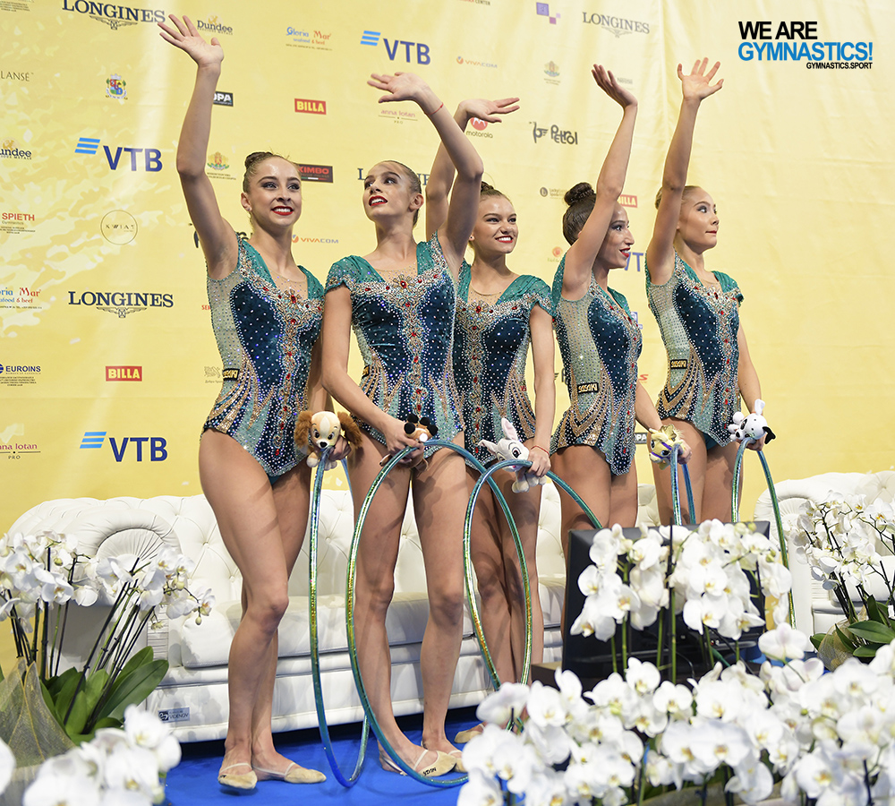 """The """"Golden Girls"""" of Bulgaria won the gold for their 5 Hoops routine."""